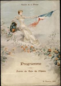 Программка гала-вечера к ответному визиту русской эскадры во Францию, в Тулон, 21 октября 1893 г.
