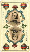Vereinigte Stralsunder Spielkarten Fabrik AG (Germany). Deutsche Einheitskarte (Unity-cards), 1914-1915