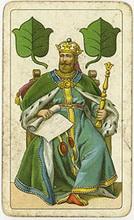 B. Dondorf Gmbh(Germany). Einkoepfige Deutsche Spielkarte, 1900-1930